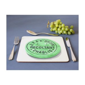 Square Wine Placemats - Burgundy